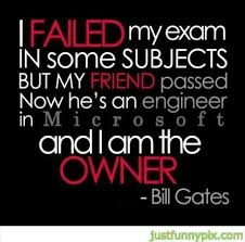 i failed my exam quote