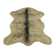 grizzly bear faux fur pelt rug