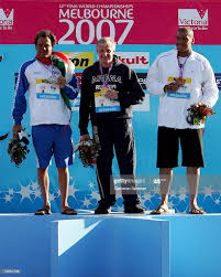 Yury Kudinov of Russia, Marco Formentini of Italy and Mohamed Zanaty...  News Photo - Getty Images