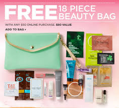 ulta free clutch filled with 18 free beauty sles with your 50 purchase 20 off one item coupon