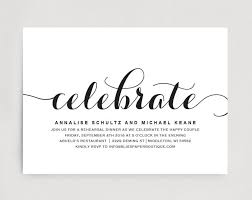 dinner template wedding rehearsal dinner invitation editable printable