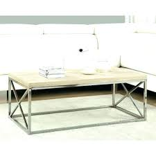 chrome and wood coffee table chrome and wood coffee table white wood and glass coffee table