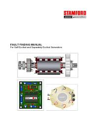 stamford fault finding manual 8 1 voltage electric generator