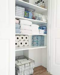 Organized Bathroom Closet Simply Organized Bathroom Closet Organization Home Organization Small Bathroom Storage
