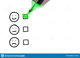 Blank Excellent Customer Service Evaluation Form Stock Photo Image