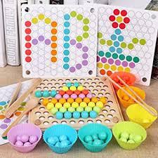 Buy SN <b>Toy</b> Zone Wooden Montessori Chopsticks <b>Beads</b> Holder ...