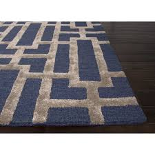 blue pattern area rug new jaipur rugs modern geometric pattern blue taupe wool and