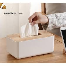 READY STOCK!! <b>Nordic</b> style <b>minimalist</b> wooden <b>tissue box</b> ...