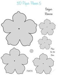 Pattern For Paper Flower 24 Best Free Paper Flower Templates Images In 2019 Flower
