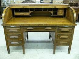 lot 70 antique globe wernicke oak roll top desk