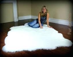 large white fur rug large white fur area rug large fleece accent rug faux fur fake