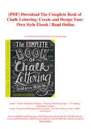 Design Your Own Style Online Pdf Download The Complete Book Of Chalk Lettering Create