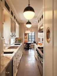 lighting for galley kitchen.  galley inspiration for a transitional galley enclosed kitchen remodel in new york  with glassfront cabinets inside lighting for galley kitchen