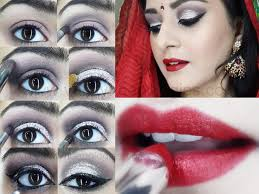 bridal eye lip makeup tutorial indian muslim