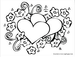 Heart Coloring Pages For Teenagers Hearts With Wings Coloring Pages