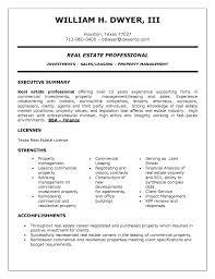 Realtor Resume Sample Commercial Real Estate Broker Resume Sample Luxury Real Estate 60