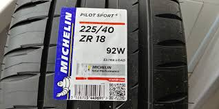 <b>MICHELIN Pilot Sport 4</b> 225/40 R18 92W — Volkswagen Golf, 1.4 ...