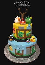 angry birds cake by artediamore d4yv8vh