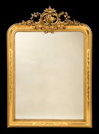 Ge Sso Login Large 19th Century Antique Carved Giltwood Gesso Mirror C 1890