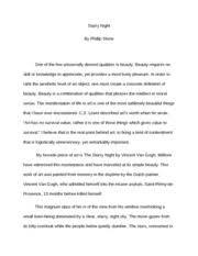 starry night essay art starry night descriptive essay introduction to arts pages starry night