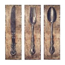 vintage kitchen silverware canvas wall art spoon knife fork owi http www amazon dp b004pc3ye8 ref cm sw r pi dp t wub05cz6we on kitchen fork knife spoon wall art french painting with vintage kitchen silverware canvas wall art spoon knife fork owi http
