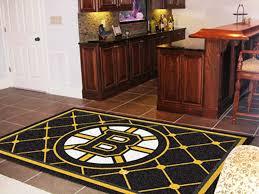 boston bruins 5 x 8 area rug