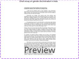 short essay on gender discrimination in term paper help short essay on gender discrimination in gender discrimination and growth theory and evidence