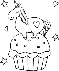 Print cupcake coloring pages for free and color our cupcake coloring! Little Unicorn On Cupcake Coloring Page Free Printable Coloring Pages For Kids