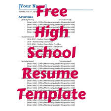 Student Resume Template         Free Samples  Examples  Format      Gallery of High School Student Resume Examples College