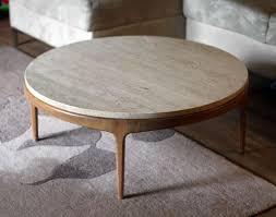 mid century large round coffee table