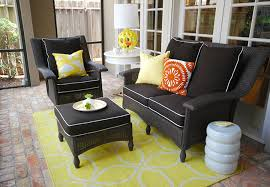 wicker patio furniture cushions. Perfect Patio Collection In Black Outdoor Wicker Chairs With Patio Furniture Decor 15 Cushions S