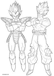 Dragon Ball Z Vegeta Coloring Pages
