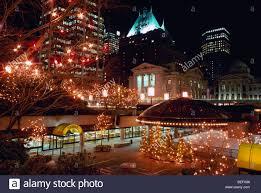 xmas lighting decorations. Plain Lighting Vancouver BC British Columbia Canada  Robson Square Christmas Lights  Decorations Colourful Festive Xmas Light Display Scene For Lighting Decorations L