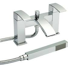 vibe bath shower mixer with shower kit and wall bracket