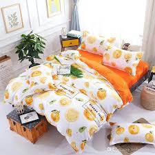 orange duvet cover whole juice fruit bedding set oranges contain vitamin bed single double queen king
