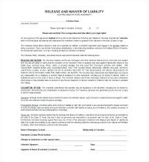 Example Of An Agreement Release And Hold Harmless Example Clause Template Agreement