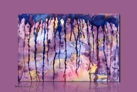 purple rain abstract watercolor