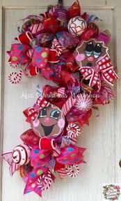 Candy Cane Christmas Deco Mesh Wreath Tutorial  Mesh Wreath Candy Cane Wreath Christmas Craft