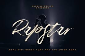 Every font is free to download! Rapstar Brush Svg Font In 2020 Free Script Fonts Free Fonts Download Brush Font
