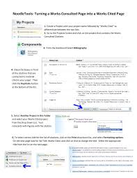 Noodletools Turning A Works Consulted Page Into A Works Cited