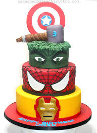 Avengers Birthday Cake Hulk Iron Man Superhero Babyplanet