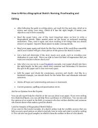 discover the secrets to write biographical sketch in minutes 3 how to write