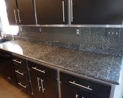 Tile Countertop Kitchen Deep Blue Pearl Granite Granite Tile Countertop For Kitchen