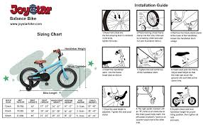 Bicycle Size Chart Amazon Com Joystar Kids Bike For Girls Boys Training