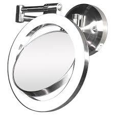 10x 1x surround swivel wall mount mirror hard wire ready by zadro slwr410hw