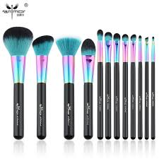 anmor hot 12 pcs makeup brush set copper ferrule makeup brushes synthetic hair professional make