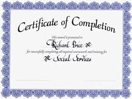 10 Example Of Certificate Of Completion Love Language Love Literature