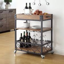 Wine Carts Cabinets Eastfield Kitchen Cart With Wood Top Cottage Pinterest