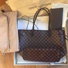 louis vuitton zipper bag. authentic 2015 louis vuitton neverfull mm damier ebene shoulder bag with free ba zipper