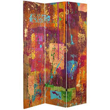 6 ft tall india double sided canvas room divider